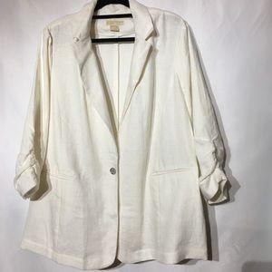 Michael Kors Linen Blazer Plus Size